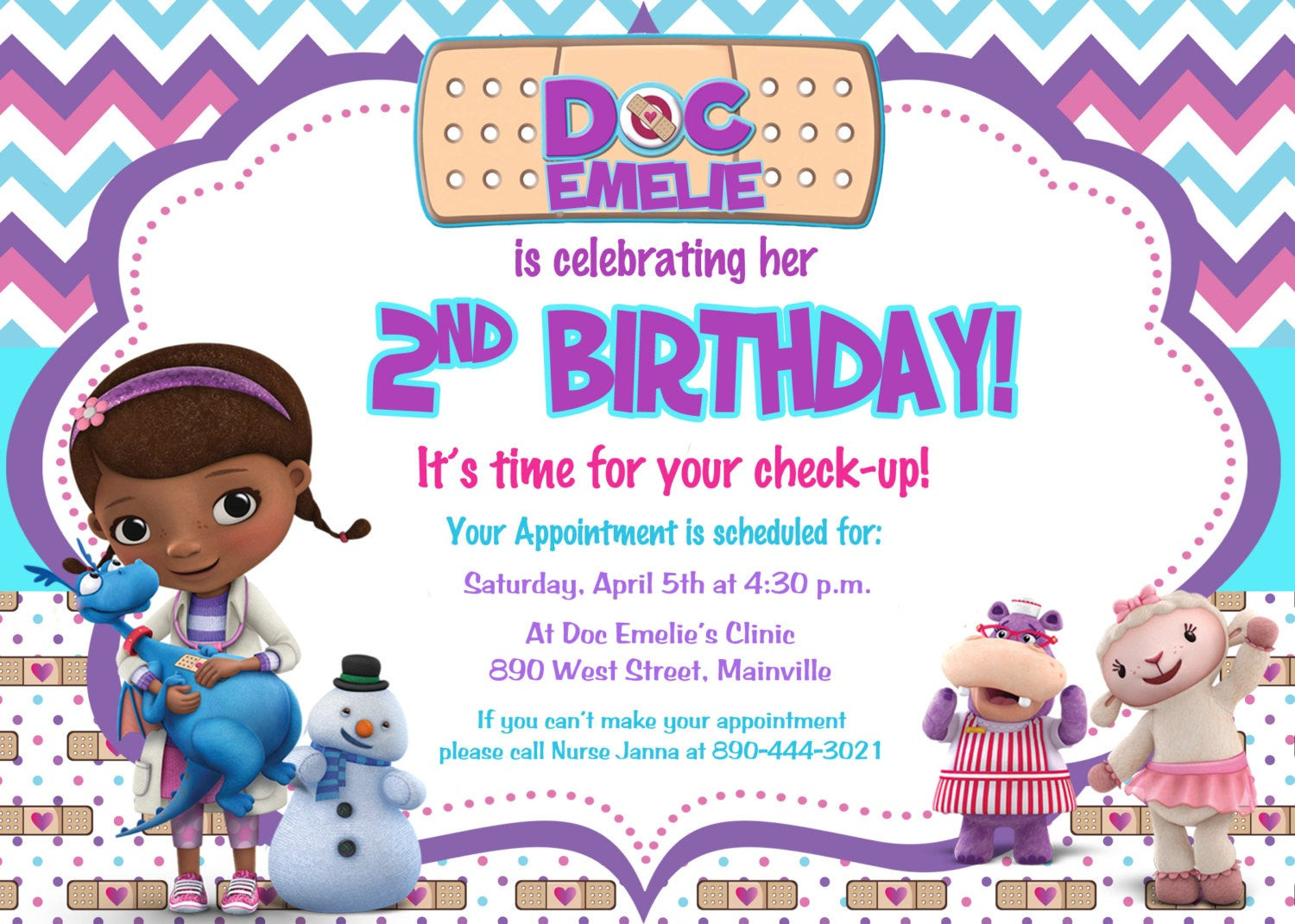 Best ideas about Doc Mcstuffins Birthday Invitations . Save or Pin Doc McStuffins Birthday Party Invitation by PrettyPaper Now.
