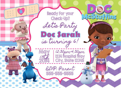 Best ideas about Doc Mcstuffins Birthday Invitations . Save or Pin Doc McStuffins Digital Birthday Invitation Now.