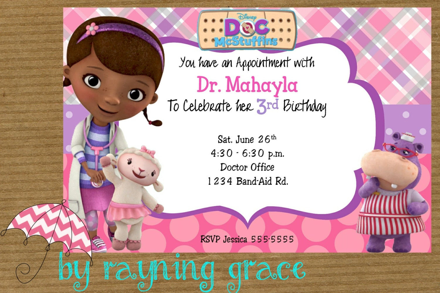 Best ideas about Doc Mcstuffins Birthday Invitations . Save or Pin Disney Doc McStuffins Birthday Party Invitations Now.