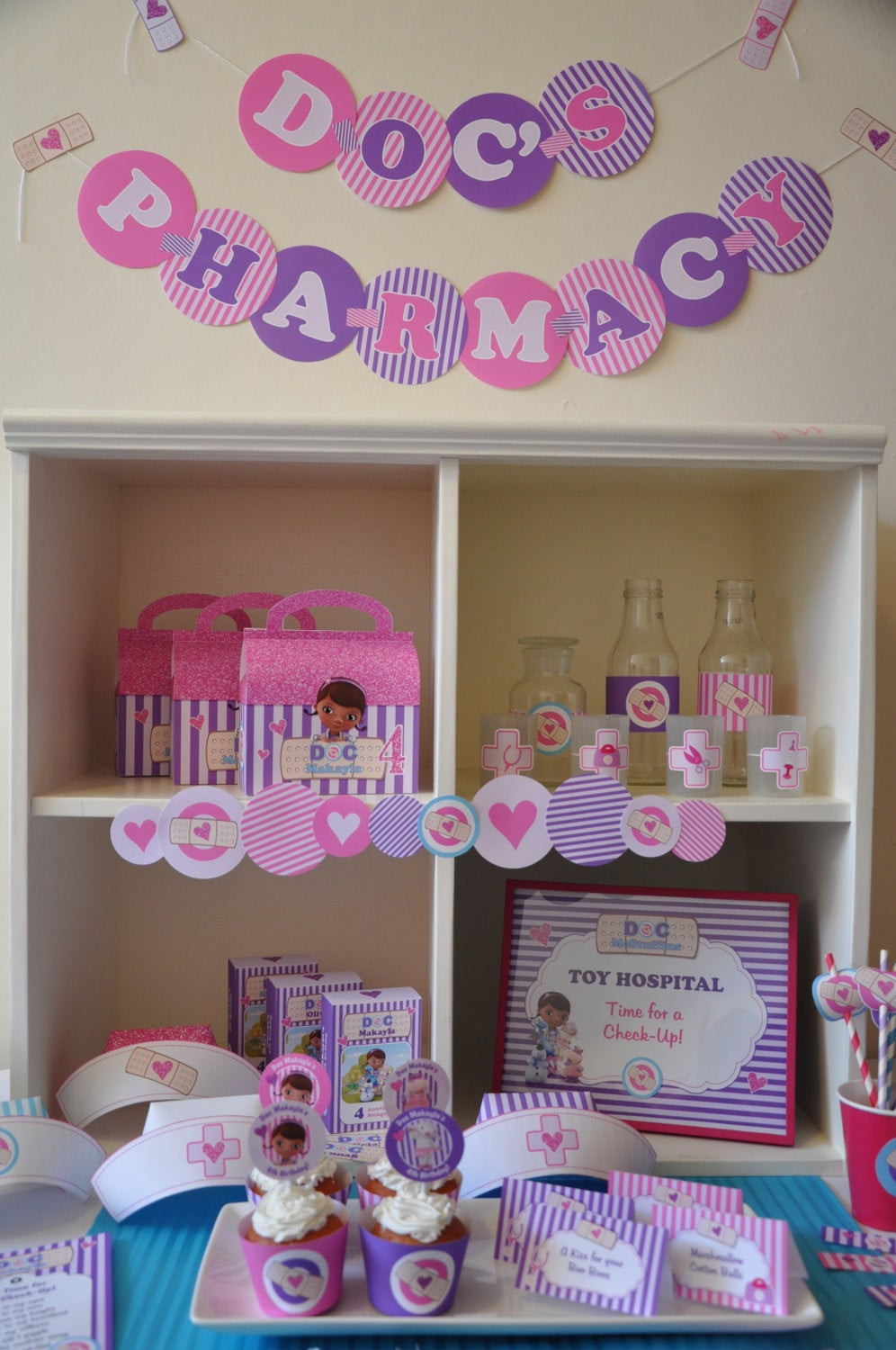 Best ideas about Doc Mcstuffins Birthday Party Ideas . Save or Pin Doc McStuffins party decorations package PERSONALIZED Doctor Now.