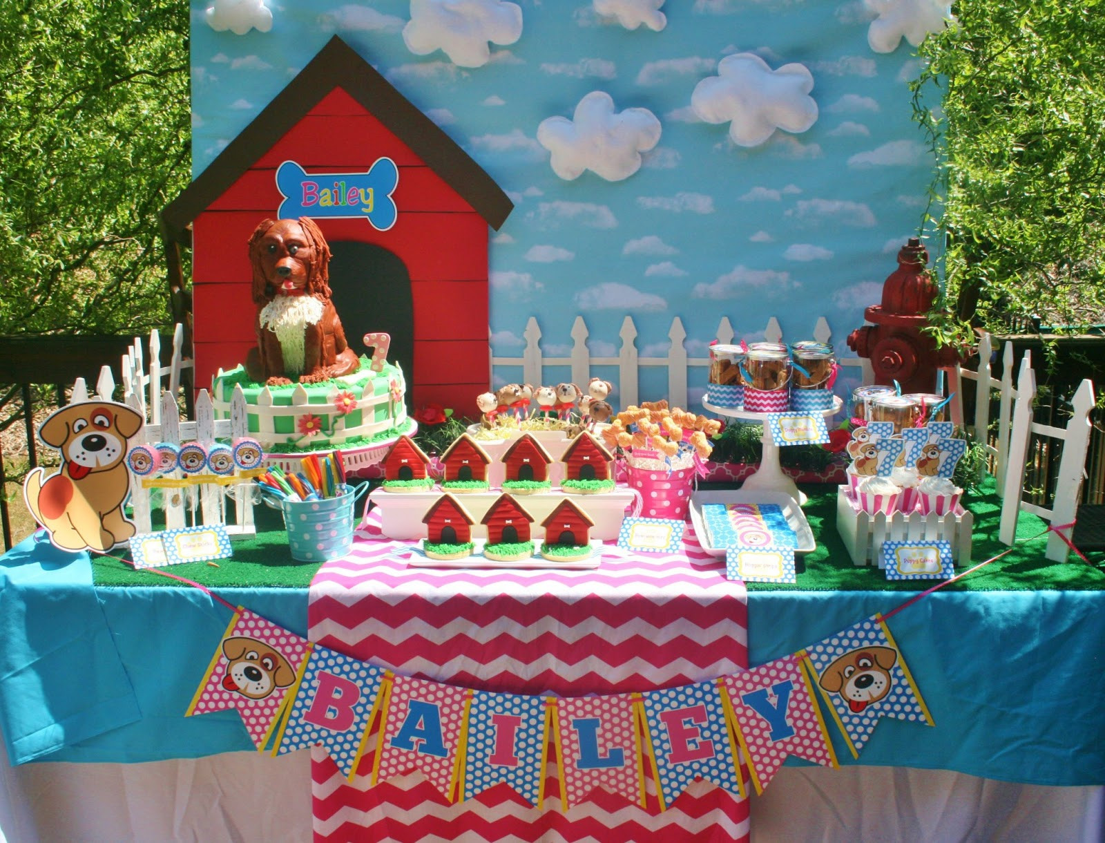 Best ideas about Dog Birthday Decorations . Save or Pin And Everything Sweet Bailey s Puppy Party Now.