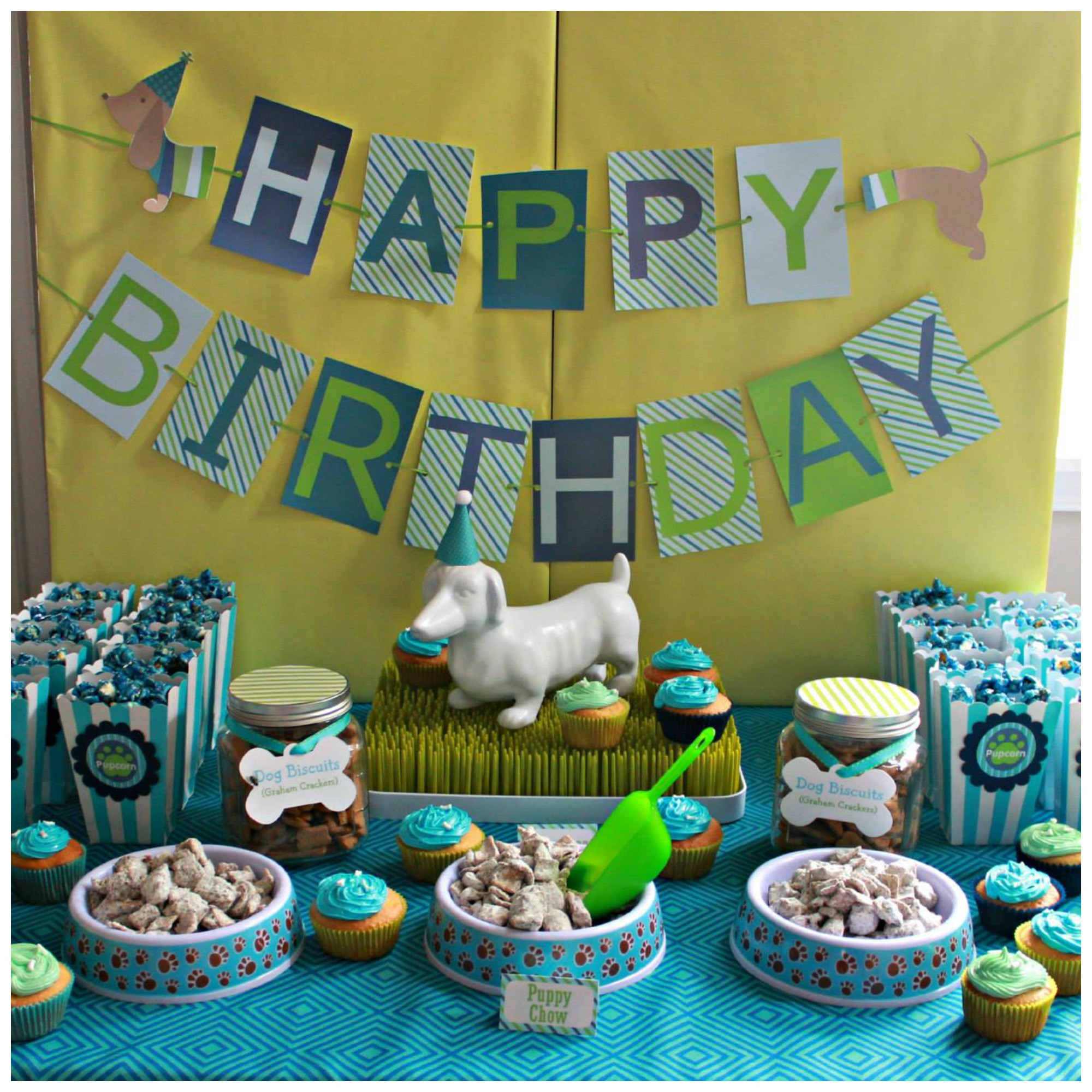Best ideas about Dog Birthday Decorations . Save or Pin Hot Dog Puppy 1st Birthday Party Project Nursery Now.