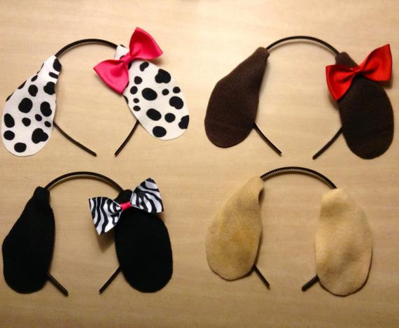 Best ideas about Dog Ears Headband DIY . Save or Pin 1 quantity headband puppy dog ears with pink red bow or Now.
