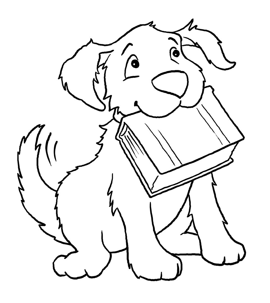 Best ideas about Dog Free Coloring Pages . Save or Pin Free Printable Dog Coloring Pages For Kids Now.
