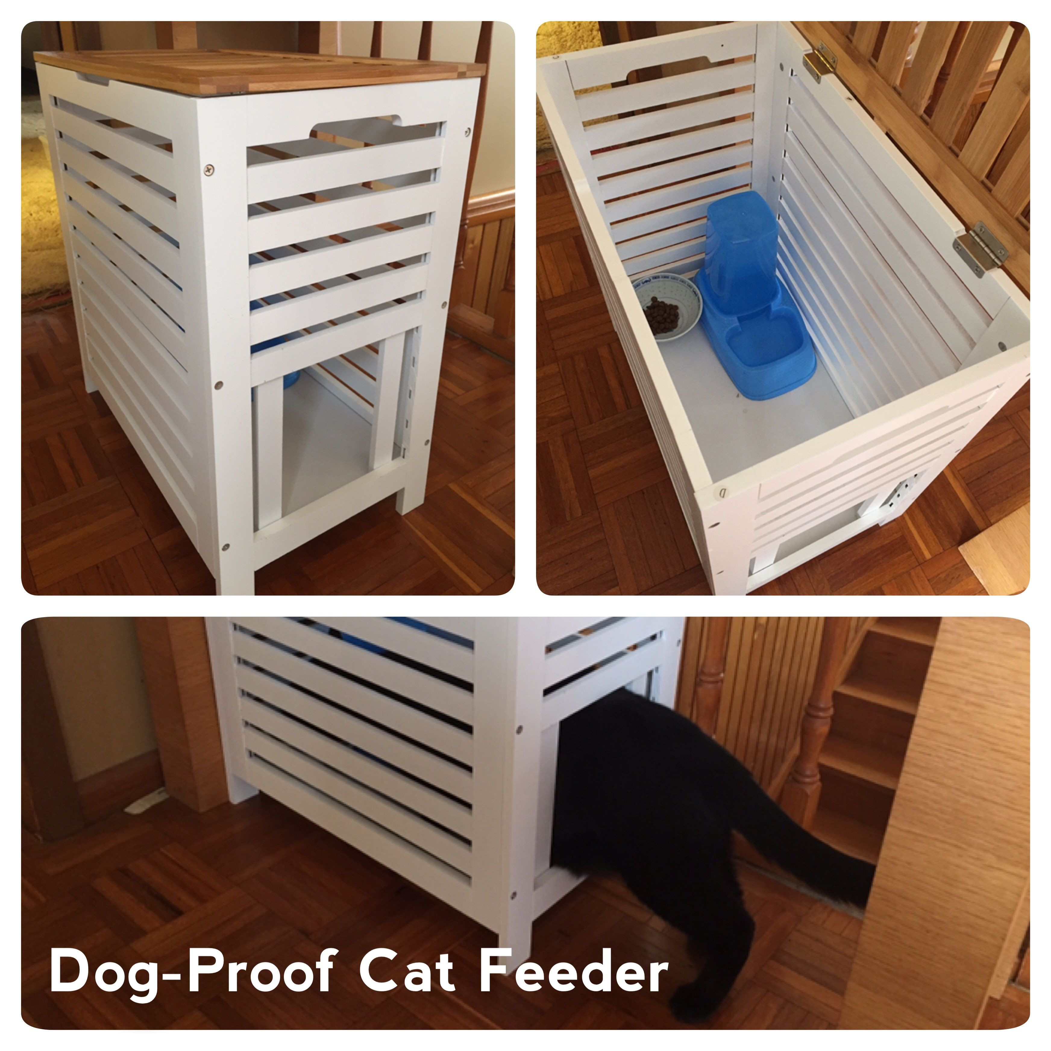 Best ideas about Dog Proof Cat Feeder DIY . Save or Pin Dog Proof Cat Feeder Kmart Hack Remove 4 horizontal slats Now.