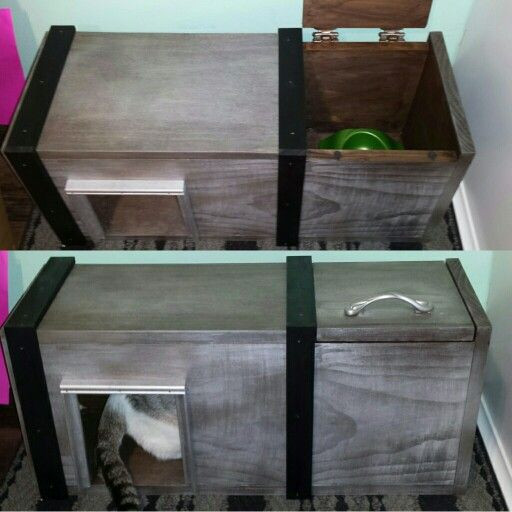 Best ideas about Dog Proof Cat Feeder DIY . Save or Pin Cat feeding station dog proof cat box diy Now.