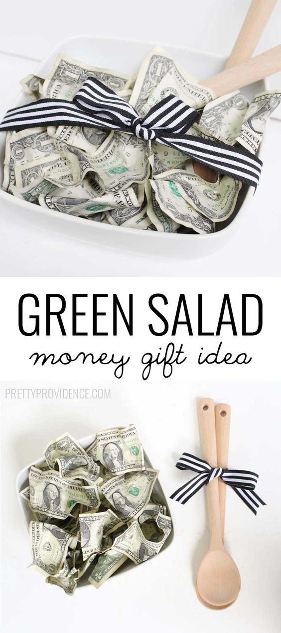 Best ideas about Dollar Bill Gift Ideas . Save or Pin Green Salad Money Gift Idea Now.