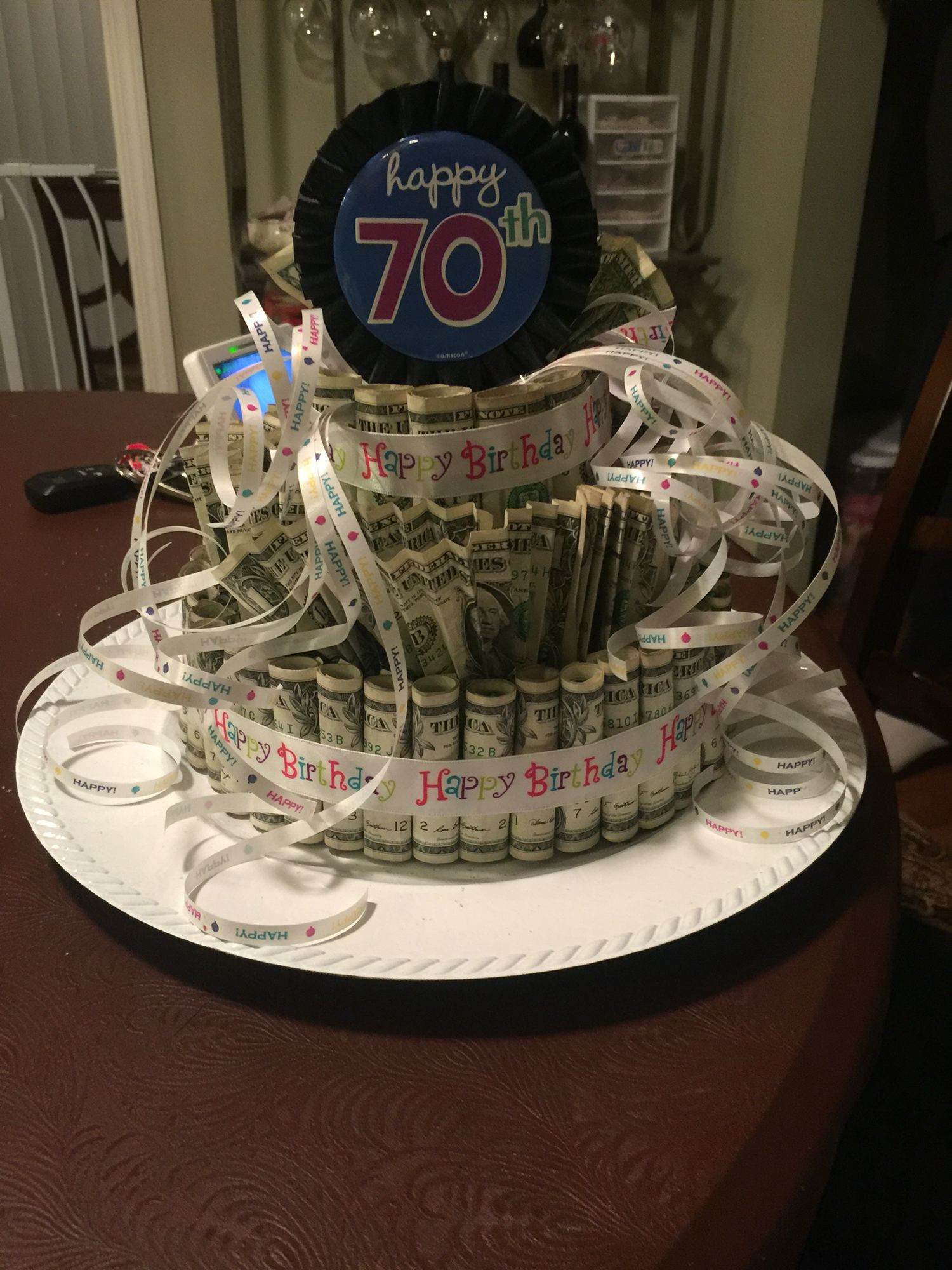 Best ideas about Dollar Bill Gift Ideas . Save or Pin Money cake with dollar bills Gift Ideas Now.