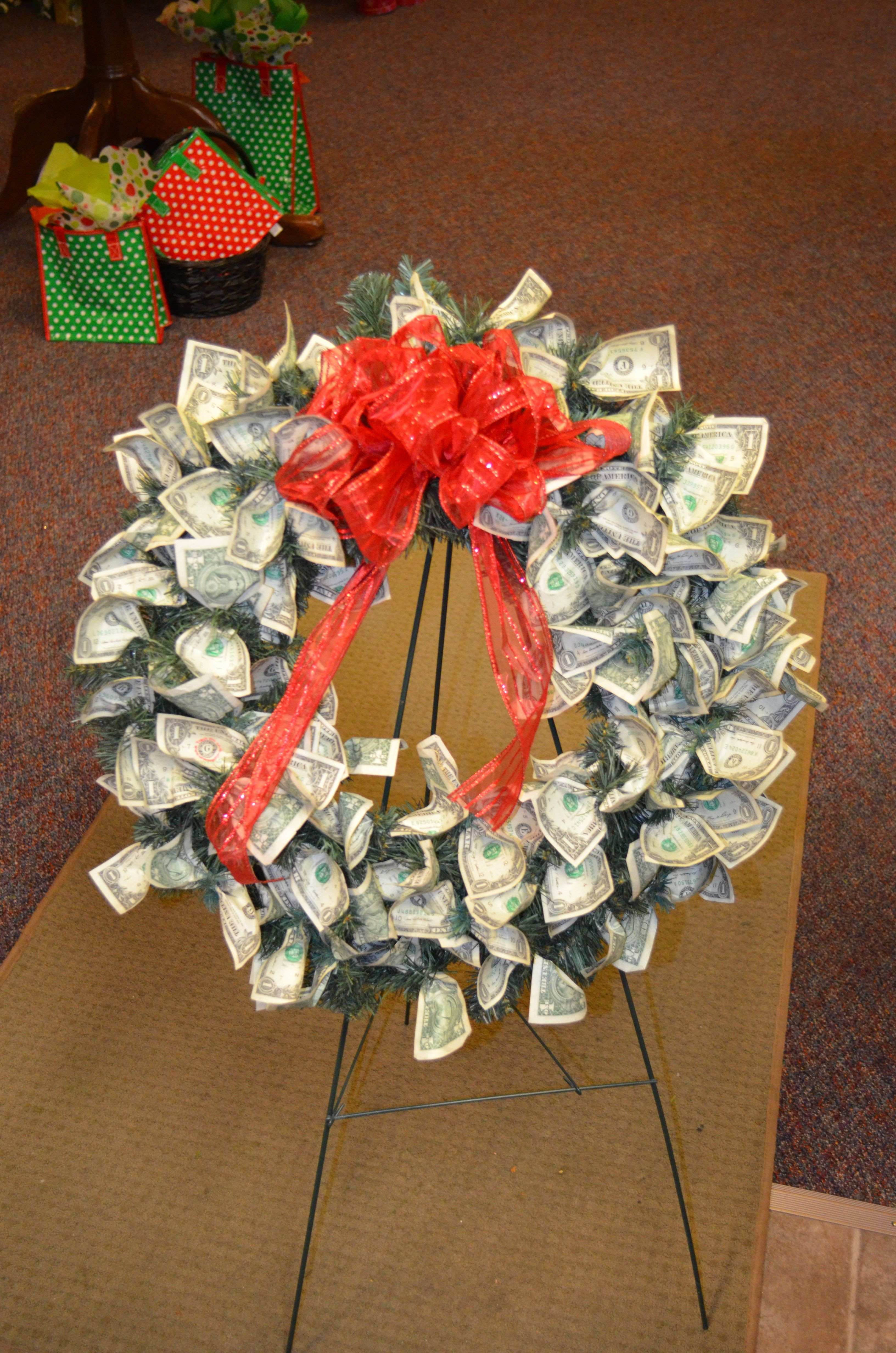 Best ideas about Dollar Bill Gift Ideas . Save or Pin Custom made Money Wreath 70 dollar bills for a 70th Now.