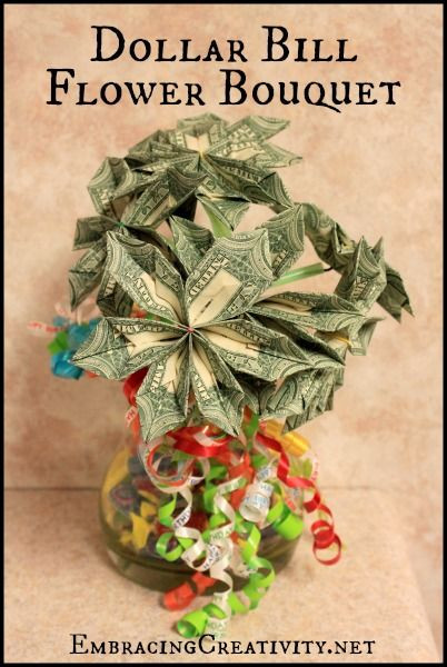 Best ideas about Dollar Bill Gift Ideas . Save or Pin Dollar Bill Flower Bouquet Perfect for any graduation or Now.