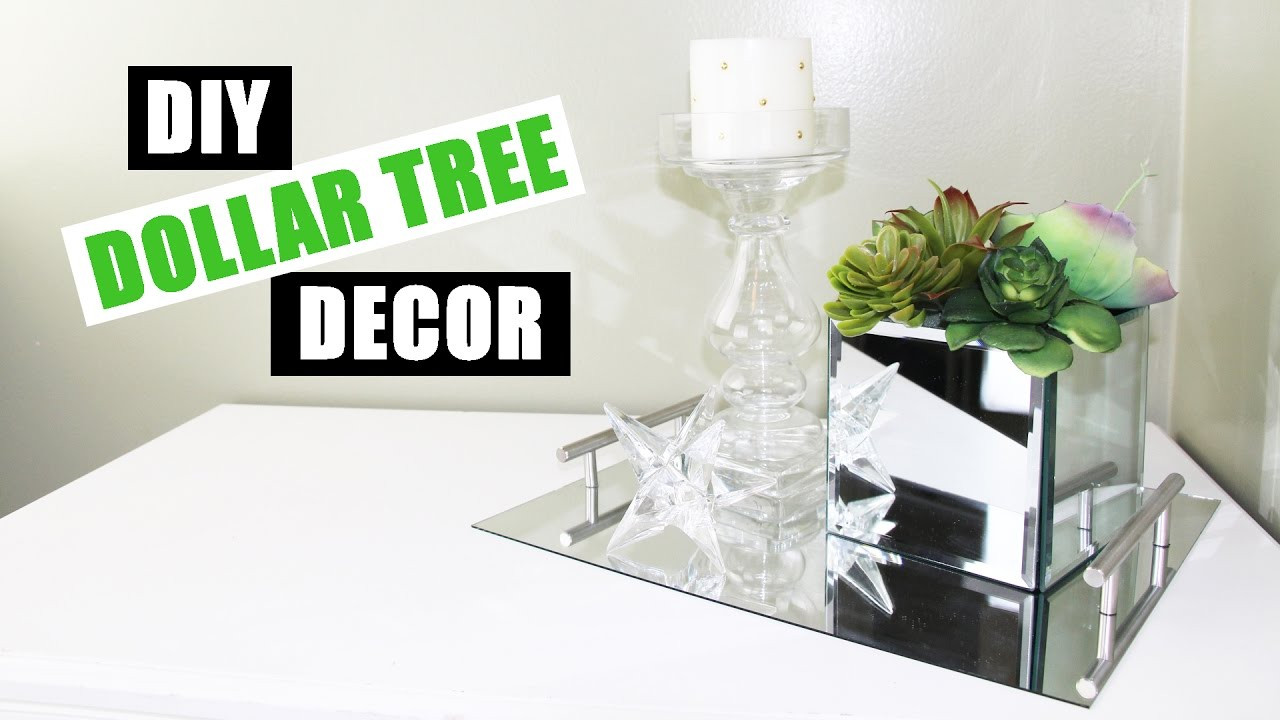 Best ideas about Dollar Tree DIY Decor . Save or Pin DOLLAR TREE DIY Room Decor Dollar Store DIY Mirrored Faux Now.