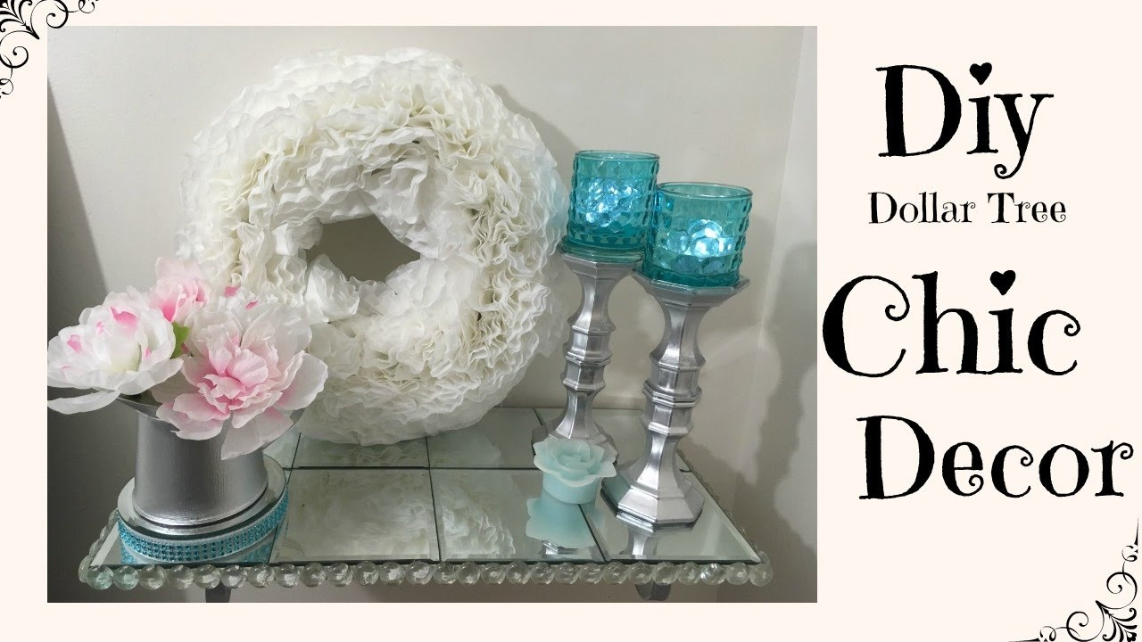 Best ideas about Dollar Tree DIY Decor . Save or Pin DIY DOLLAR TREE CHIC HOME DECOR Now.
