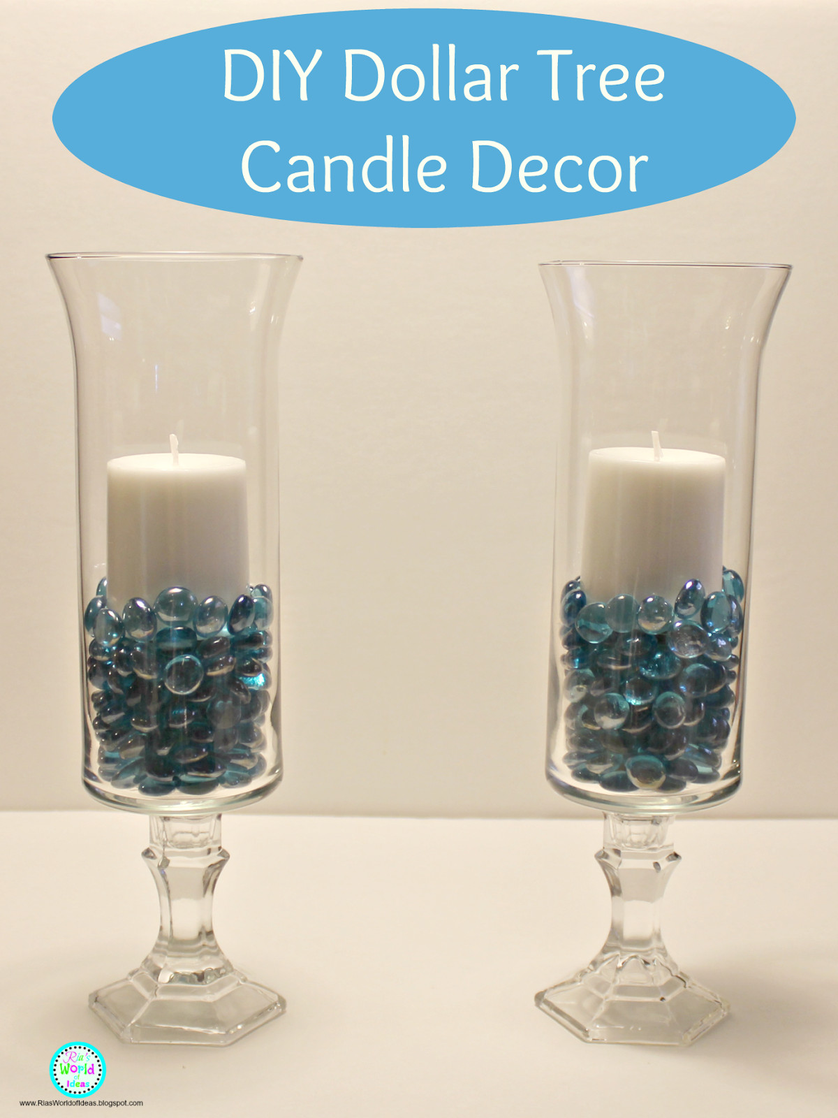 Best ideas about Dollar Tree DIY Decor . Save or Pin Ria s World of Ideas DIY Dollar Tree Candle Decor Now.