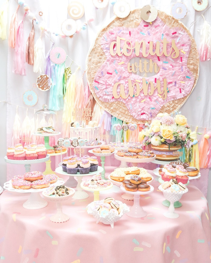 Best ideas about Donut Birthday Party . Save or Pin Kara s Party Ideas Pastel Donut Birthday Party Now.