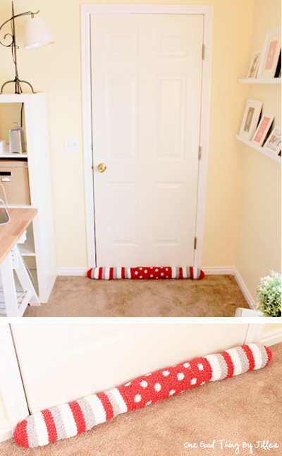 Best ideas about Door Draft Stopper DIY . Save or Pin Turn socks into snakes to keep the cold out Now.