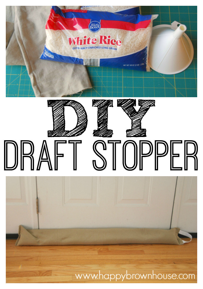 Best ideas about Door Draft Stopper DIY . Save or Pin DIY Door Draft Stopper Easy Sewing Project Now.