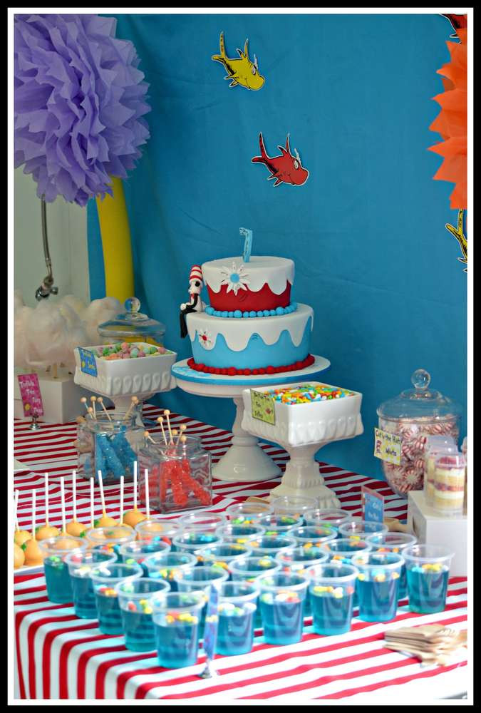 Best ideas about Dr.seuss Birthday Decorations . Save or Pin Dr Seuss Birthday Party Ideas 1 of 20 Now.