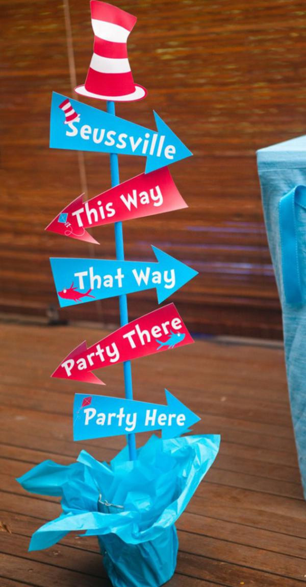 Best ideas about Dr.seuss Birthday Decorations . Save or Pin Kara s Party Ideas Dr Seuss themed party baby shower party Now.