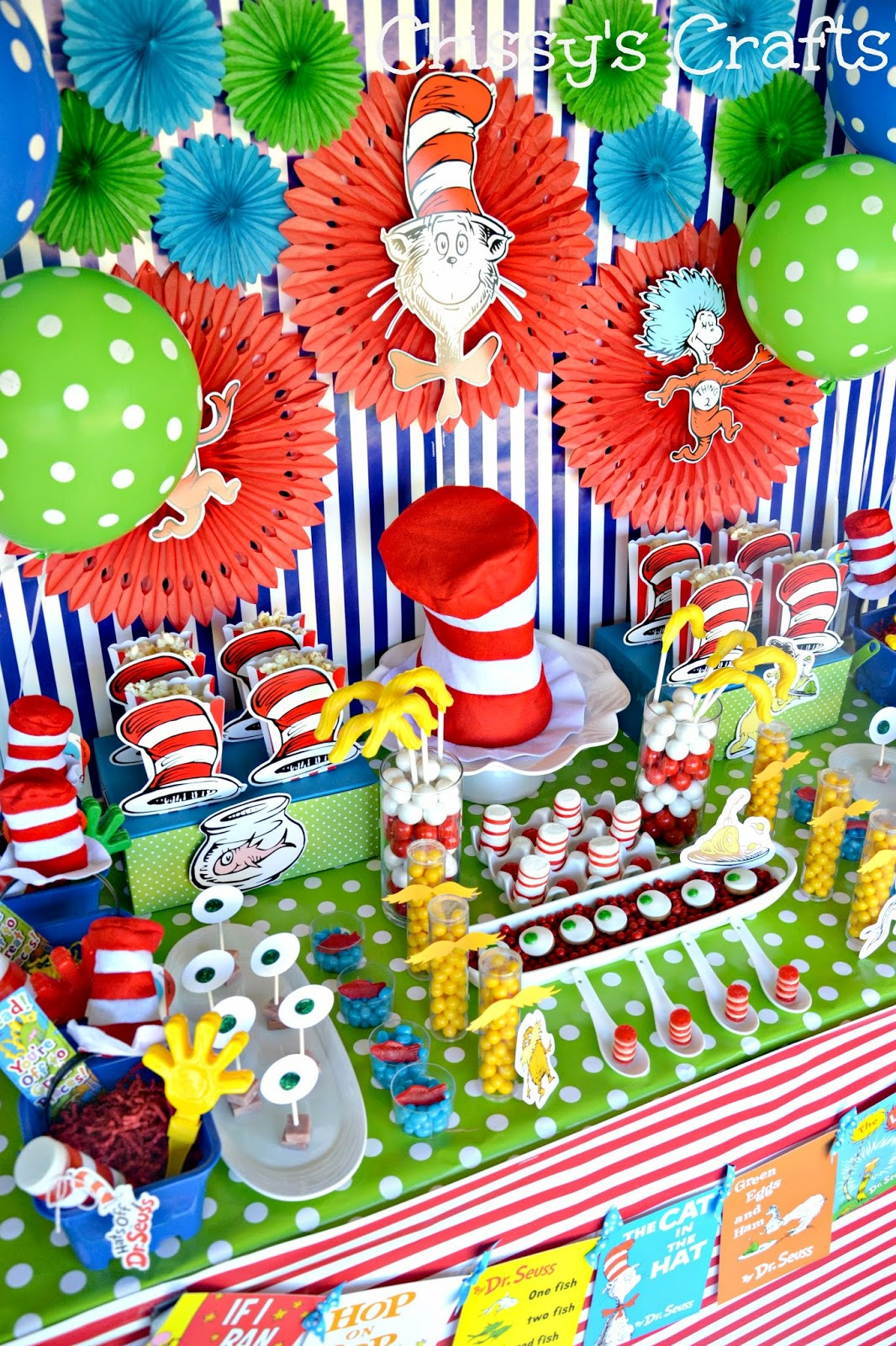 Best ideas about Dr.seuss Birthday Decorations . Save or Pin Crissy s Crafts Dr Seuss Party Ideas and Snacks Now.