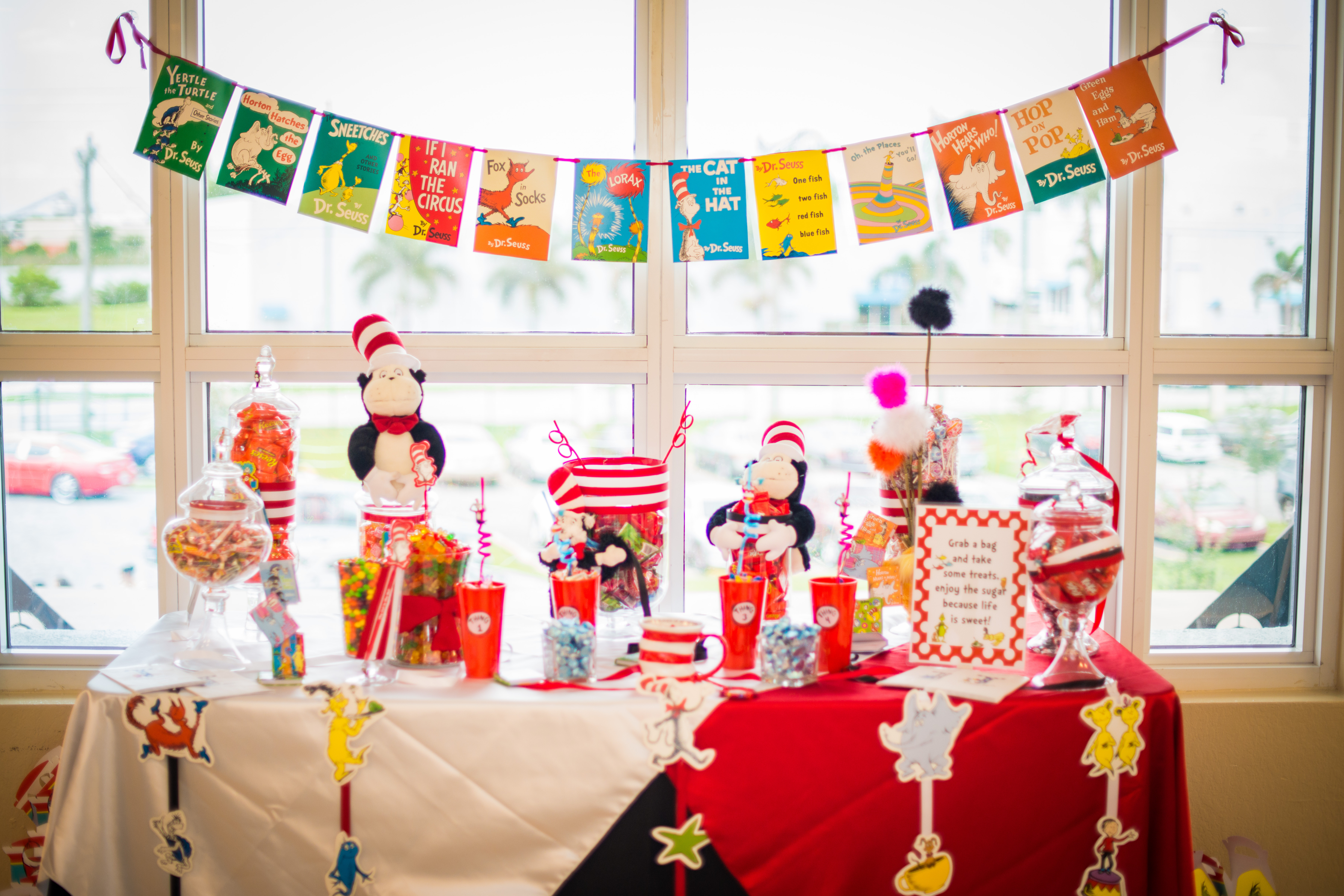 Best ideas about Dr.seuss Birthday Decorations . Save or Pin Dr Seuss Themed Birthday Party by Cary Diaz graphy Now.