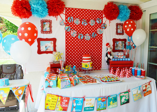 Best ideas about Dr.seuss Birthday Decorations . Save or Pin Dr Seuss 1st Birthday Party Ideas Now.
