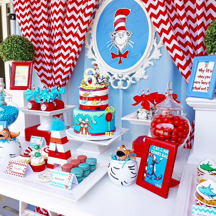 Best ideas about Dr.seuss Birthday Decorations . Save or Pin Kara s Party Ideas Dr Seuss Birthday Party Now.
