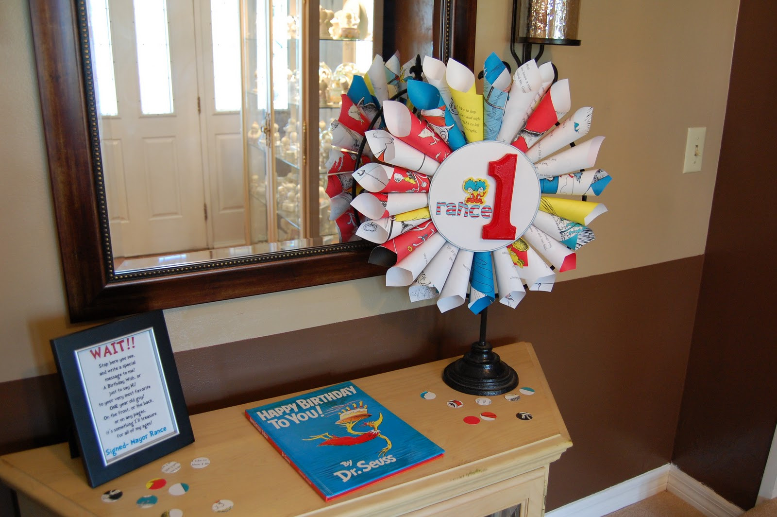 Best ideas about Dr.seuss Birthday Decorations . Save or Pin kristykes dr seuss birthday decorations Now.