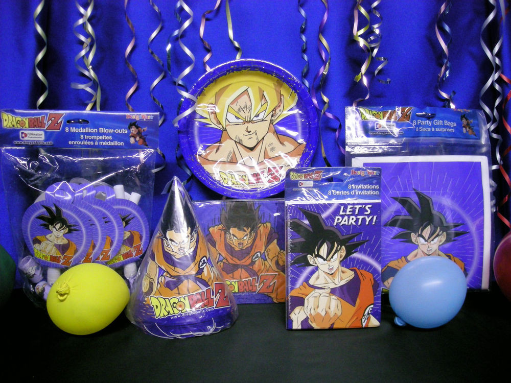 Best ideas about Dragon Ball Z Birthday Decorations . Save or Pin DragonBall Z Party Set 9 Dragon Ball Z Party Supplies Now.
