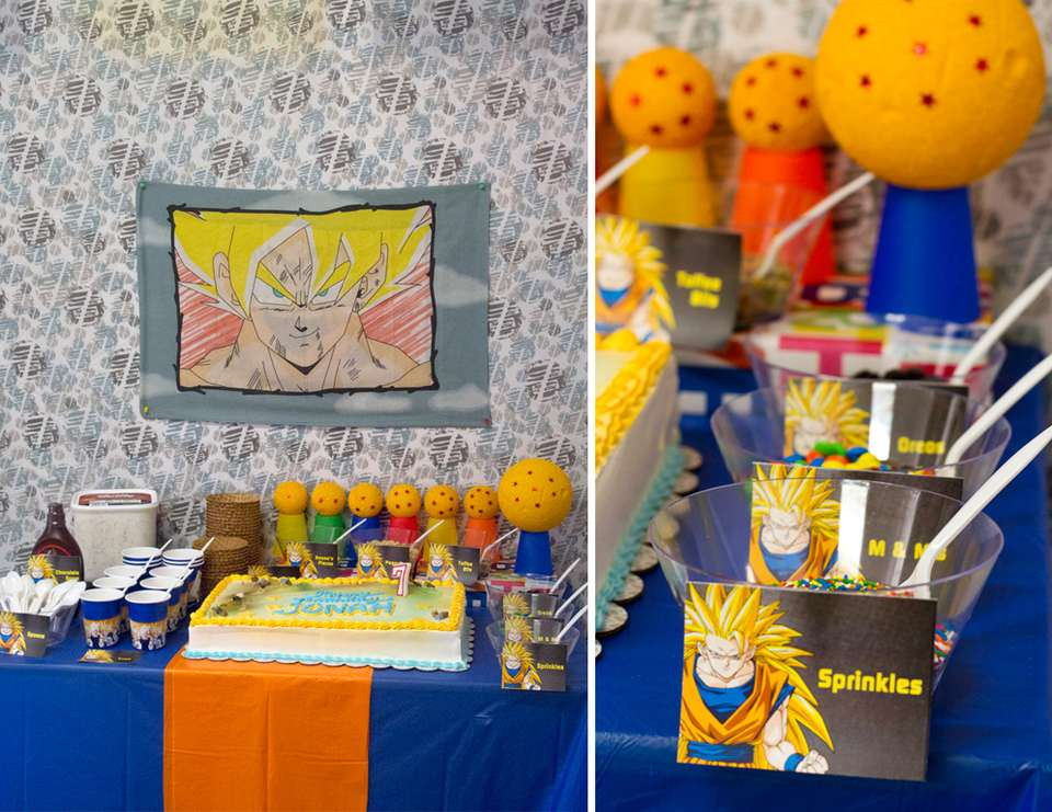 """Best ideas about Dragon Ball Z Birthday Decorations . Save or Pin Birthday """"Dragon Ball Z Birthday"""" Now."""