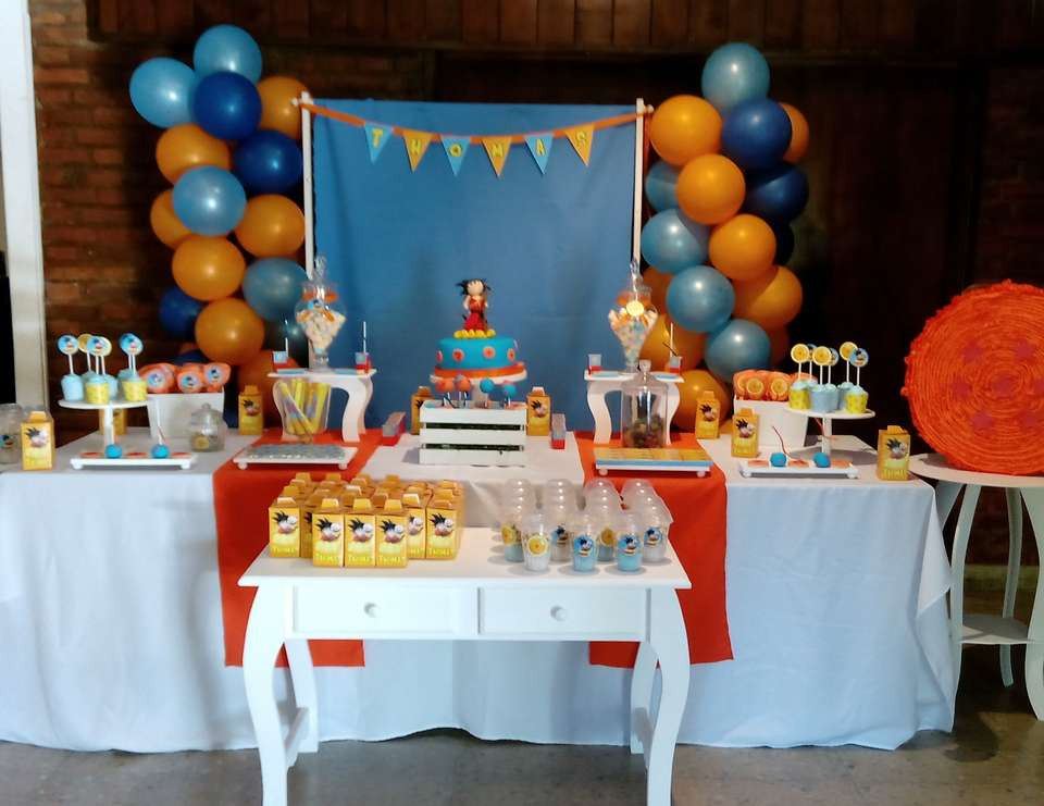 """Best ideas about Dragon Ball Z Birthday Decorations . Save or Pin Dragon ball z Birthday """"Thomas dragon ball z party Now."""