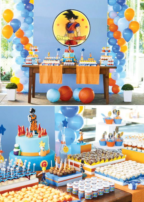 Best ideas about Dragon Ball Z Birthday Decorations . Save or Pin Dragon Ball Z Party bday ideas Pinterest Now.