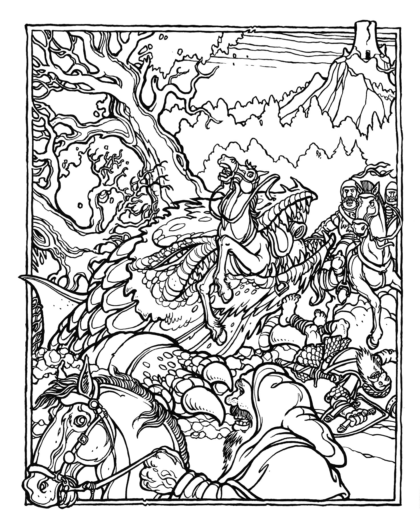 Best ideas about Dragons Coloring Pages For Adults . Save or Pin MONSTER BRAINS The ficial Advanced Dungeons and Dragons Now.