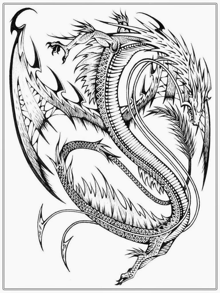 Best ideas about Dragons Coloring Pages For Adults . Save or Pin Realistic Dragon Coloring Pages For Adults Coloring Home Now.