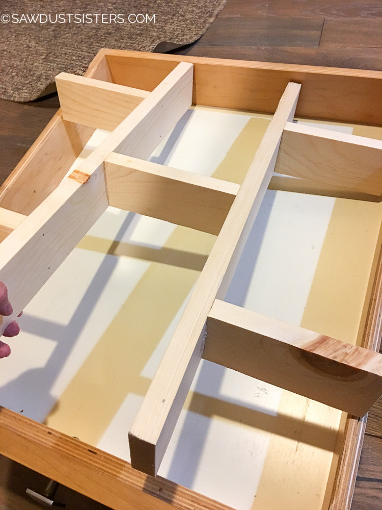Best ideas about Drawer Dividers DIY . Save or Pin Super Easy DIY Drawer Divider Insert Sawdust Sisters Now.