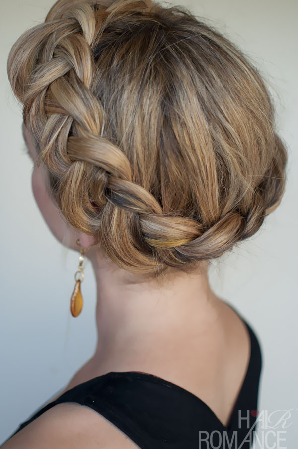 Best ideas about Dutch Braid Hairstyles . Save or Pin Dutch Crown Braid – Simple Casual Dutch Braid Updo Now.