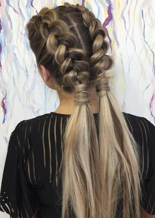 Best ideas about Dutch Braid Hairstyles . Save or Pin 51 Pretty Holiday Hairstyles For Every Christmas Outfit Now.