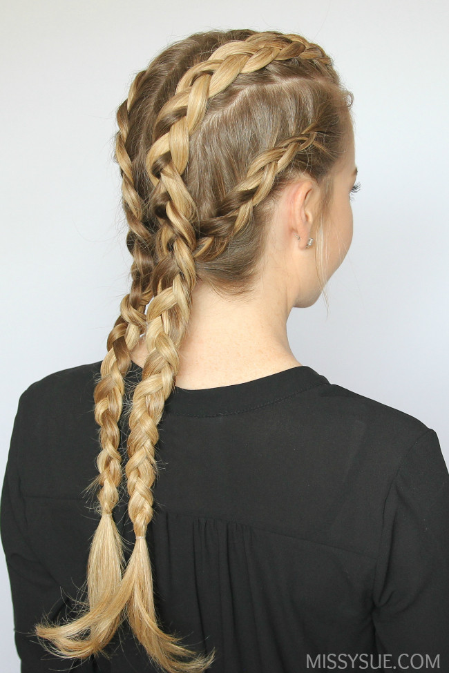 Best ideas about Dutch Braid Hairstyles . Save or Pin four dutch braids hairstyle Now.