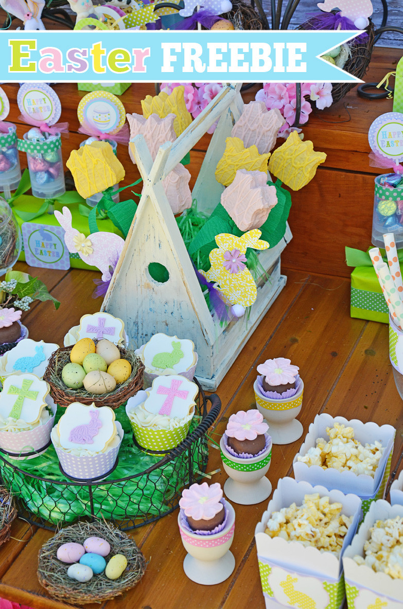 Best ideas about Easter Birthday Party . Save or Pin Amanda s Parties To Go Easter FREE Printables Set Now.