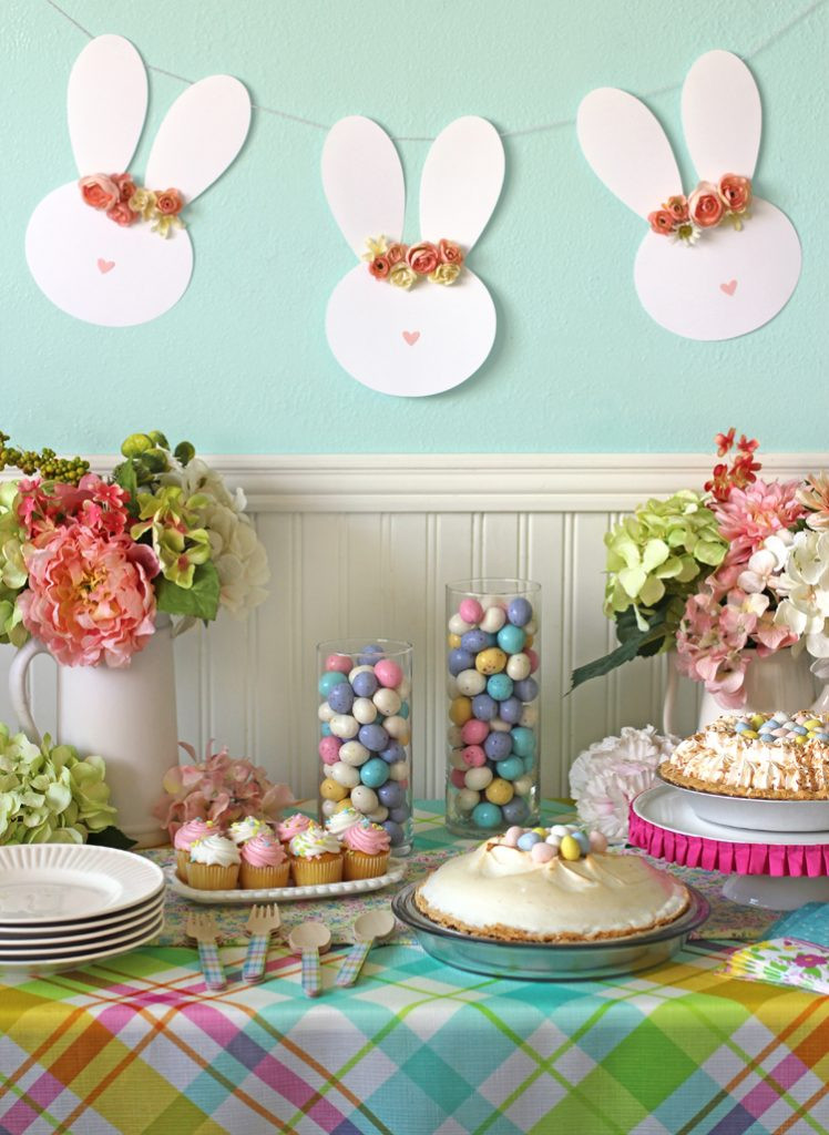 Best ideas about Easter Birthday Party . Save or Pin Easy Easter Table Decor and a Floral Crown Easter Bunny Now.