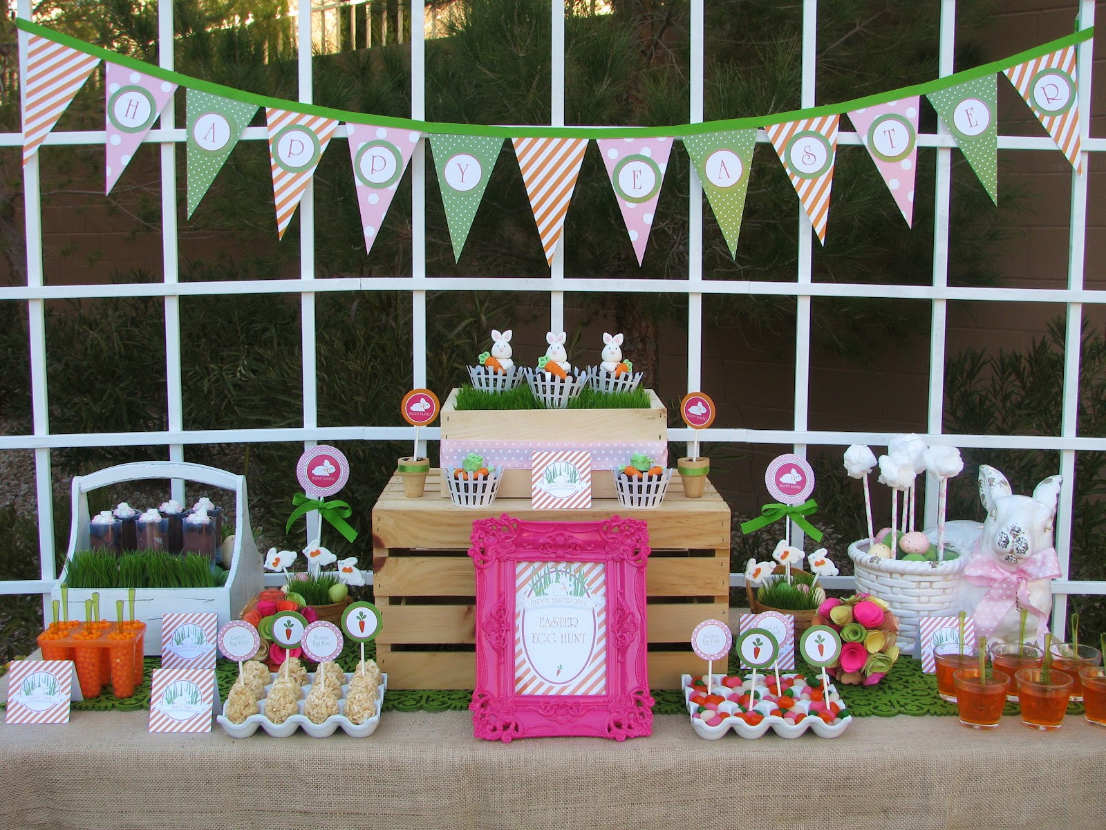 Best ideas about Easter Birthday Party . Save or Pin Easter Bunny Egg Hunt Party Lynlee's Now.
