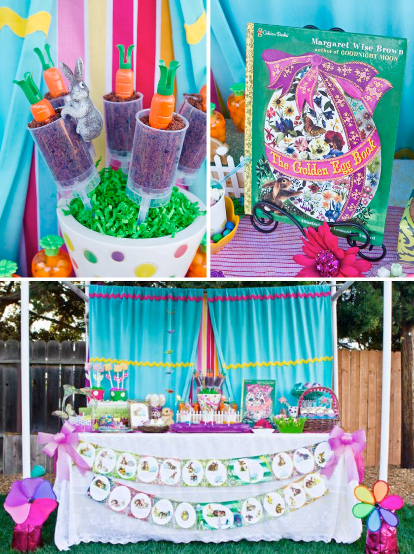 "Best ideas about Easter Birthday Party . Save or Pin Kara s Party Ideas ""The Golden Egg Book"" Themed Boy Girl Now."