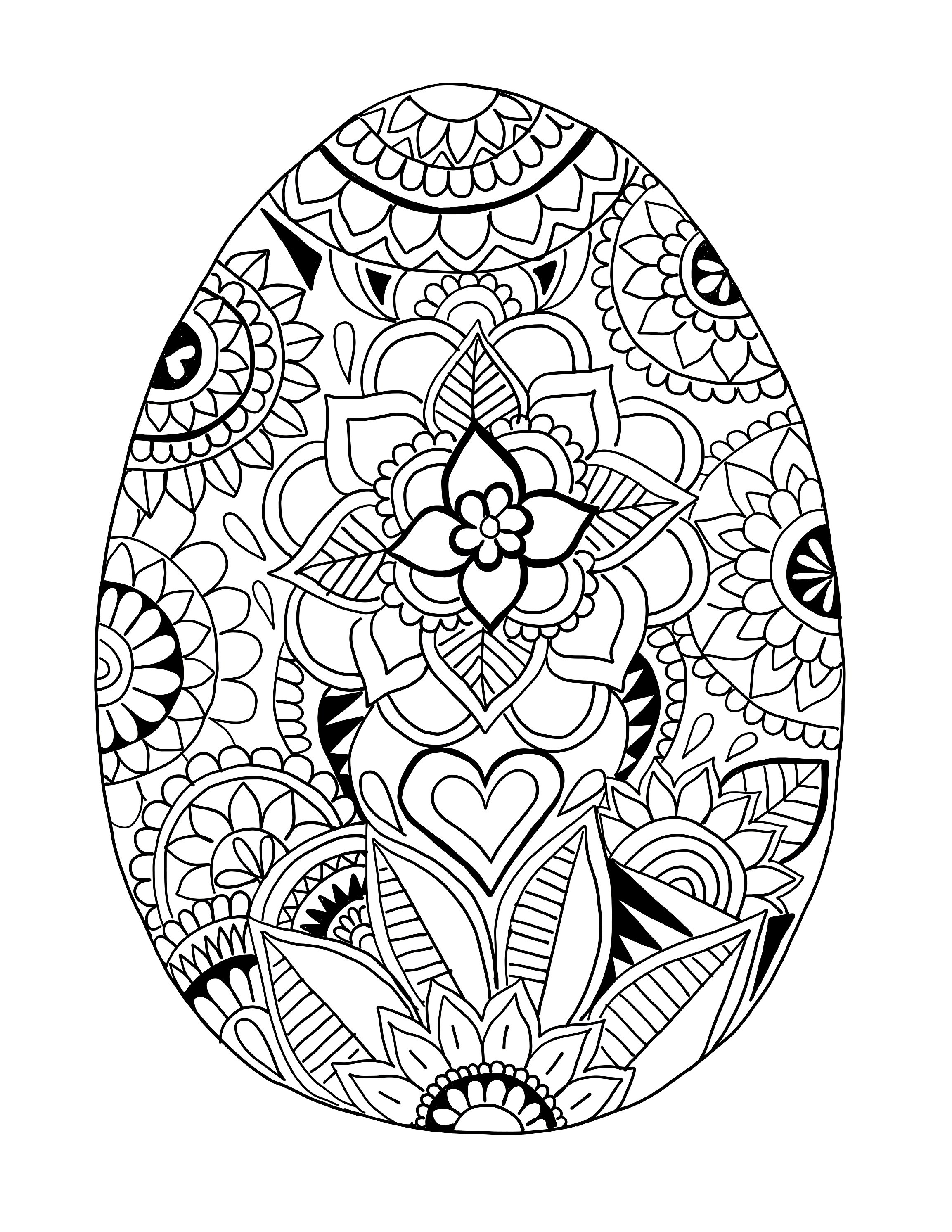Best ideas about Easter Egg Free Coloring Sheets . Save or Pin Easter Egg Printable Coloring Page Now.