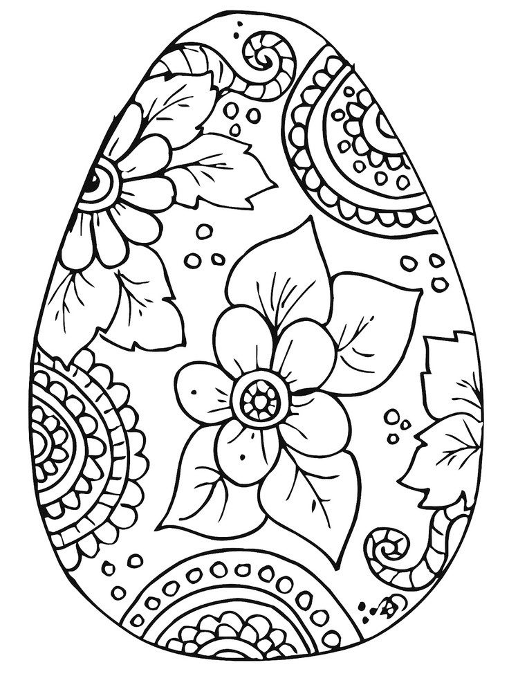 Best ideas about Easter Egg Free Coloring Sheets . Save or Pin Free Printable Easter Egg Coloring Pages AZ Coloring Pages Now.