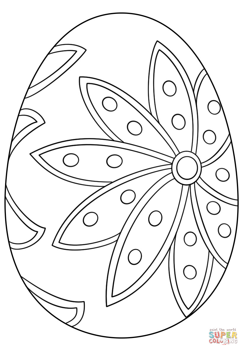 Best ideas about Easter Egg Free Coloring Sheets . Save or Pin Fancy Easter Egg coloring page Now.