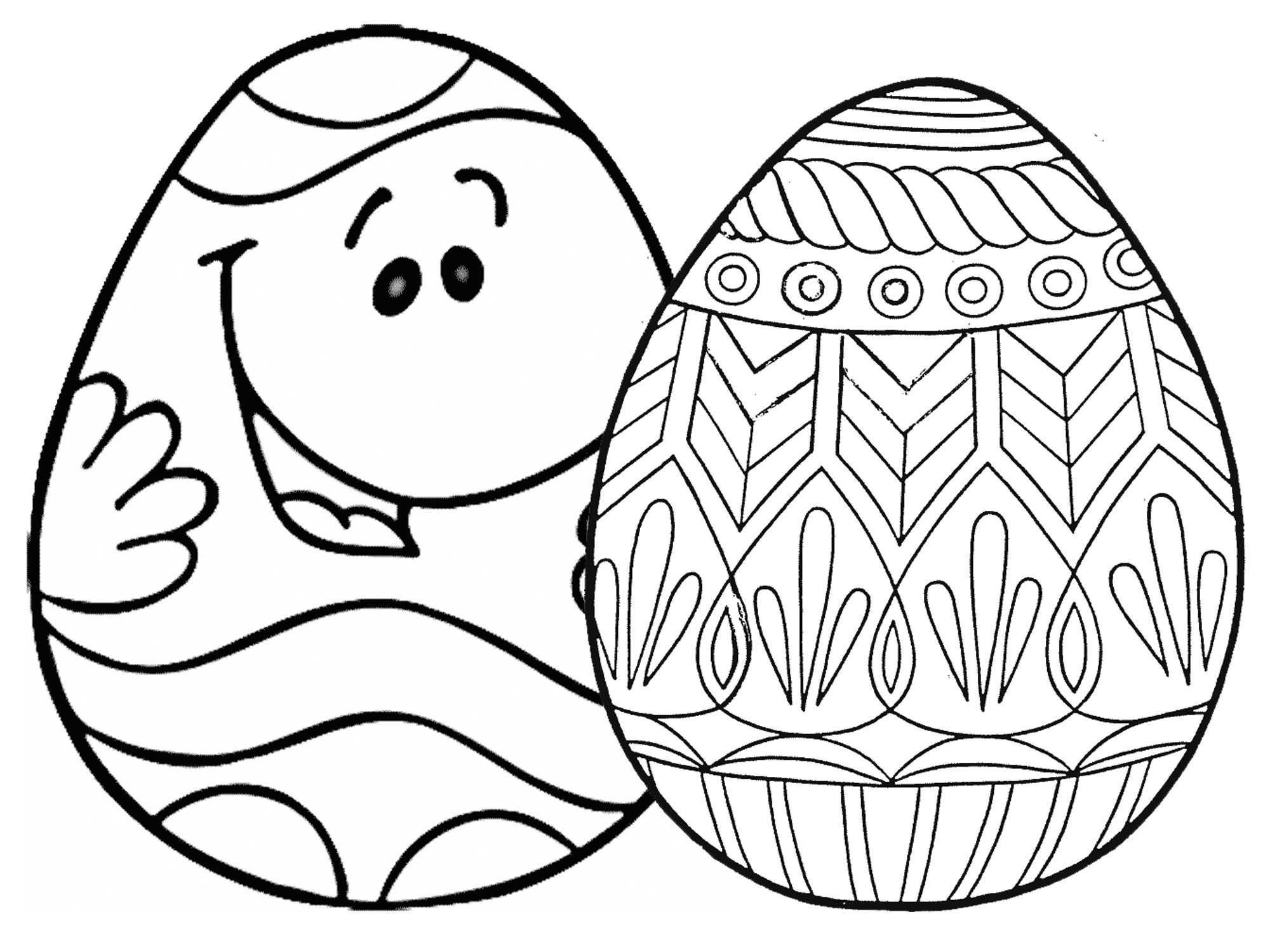 Best ideas about Easter Egg Free Coloring Sheets . Save or Pin 7 Places for Free Printable Easter Egg Coloring Pages Now.