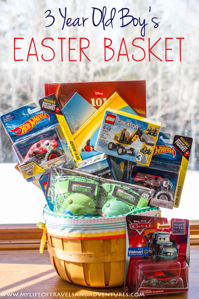 Best ideas about Easter Gift Ideas For Boys . Save or Pin My 3 Year Old Boy s Easter Basket with no candy Now.