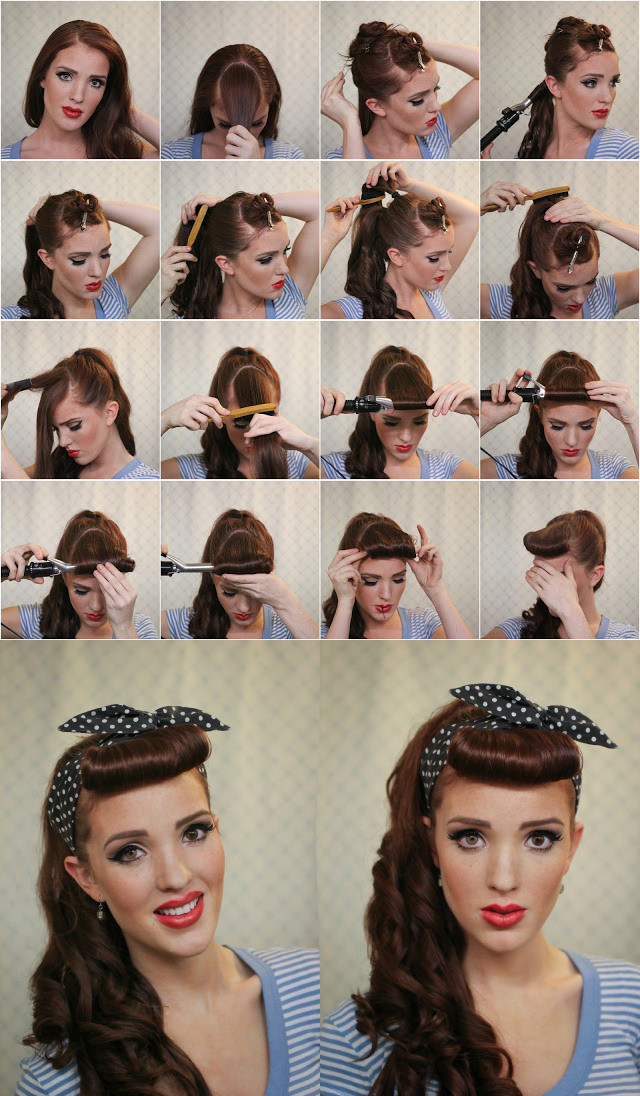 Best ideas about Easy 50S Hairstyles . Save or Pin Crazy Retro Hairstyle Tutorials Now.