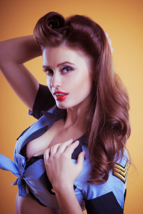 """Best ideas about Easy 50S Hairstyles . Save or Pin 42 Pin Up Hairstyles That Scream """"Retro Chic"""" Tutorials Now."""