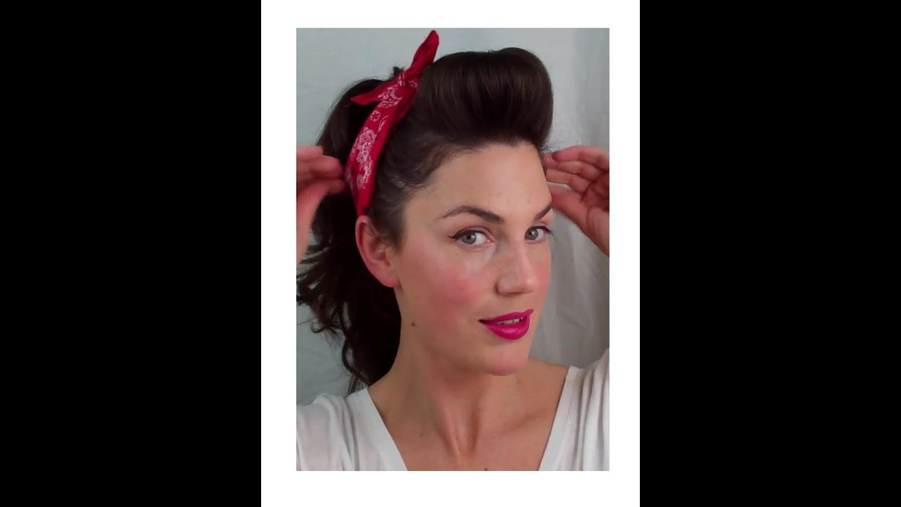 Best ideas about Easy 50S Hairstyles . Save or Pin 6 PIN UP looks for BEGINNERS QUICK and EASY VINTAGE Now.