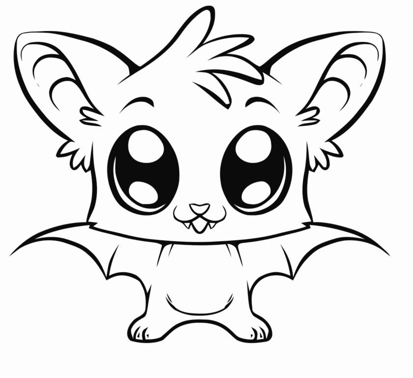 Best ideas about Easy Animal Coloring Pages For Kids . Save or Pin Simple Halloween Coloring Pages Printables Now.